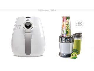 Kit Gourmet - Fritadeira Airfryer + Nutri Ninja Auto IQ