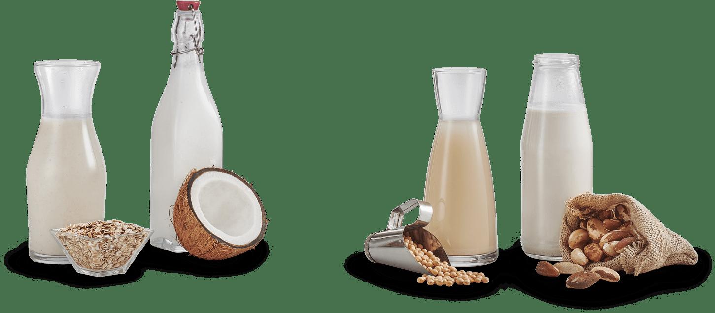 Ilustração: Garrafas com leite