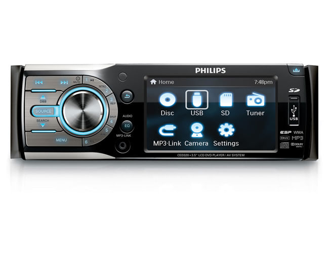 SOM AUTOMOTIVO COM DVD CED320 PHILIPS