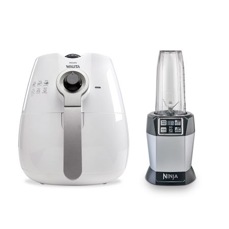 Fritadeira Elétrica Airfryer Philips Walita + Nutri Ninja Auto IQ
