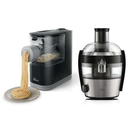 Máquina Automática De Massa Fresca Pasta Maker Philips Walita + Juicer Compact...
