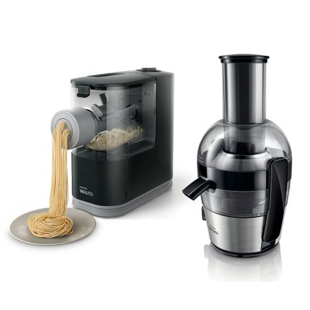 Máquina Automática De Massa Fresca Pasta Maker Philips Walita + Juicer Xl...