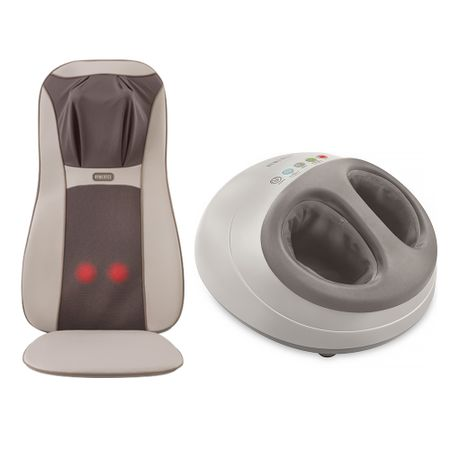 Assento Massageador Shiatsu Elite Pro Homedics + Foot Massager Shiatsu Air Pro...