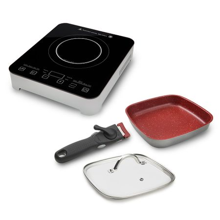 Cooktop Por Indução Gourmet Touch Polishop +  Panela Sauté  Smart Square 22 Cm...