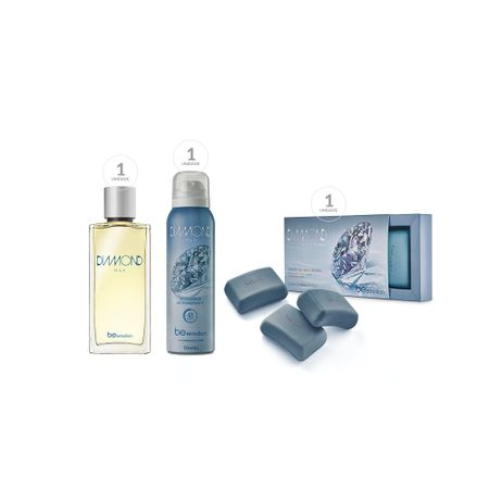 Sabonete Masculino Diamond Man + Deo Parfum Diamond Man + Desodorante...