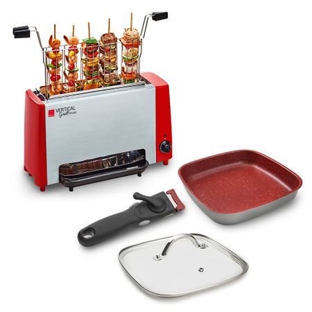 Vertical Grill House + Kit Smart Square Sauté Grand 24cm