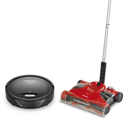 Robô De Limpeza Housekeeper Mini + Vassoura Elétrica Cordless Sweeper Polishop...