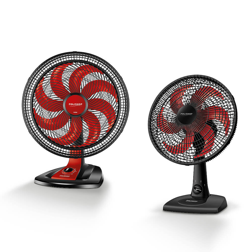 Ventilador Ultra Wind Comfort 8 Pás 40cm Polishop + Ventilador De Mesa Ultra Wind 30cm Polishop