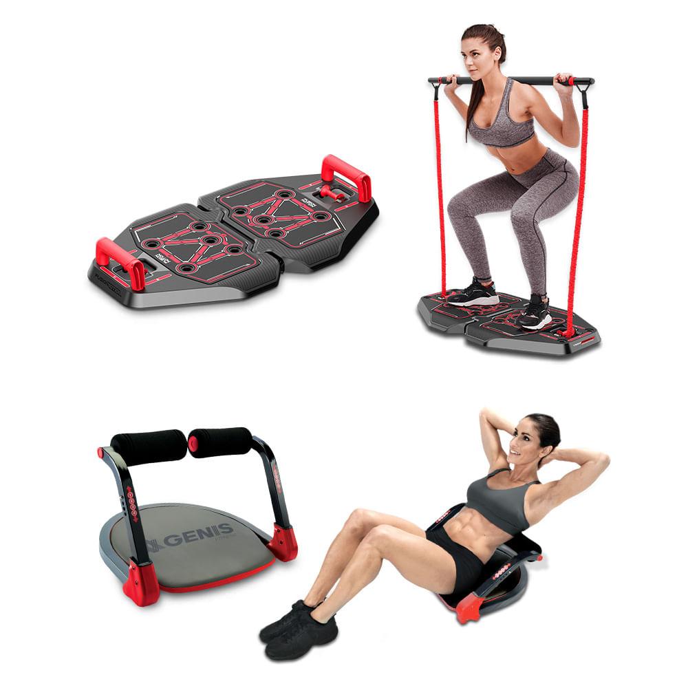 Plataforma de Exercícios Transformer Full Body Station + Plataforma Abdominal Ab Max Genis