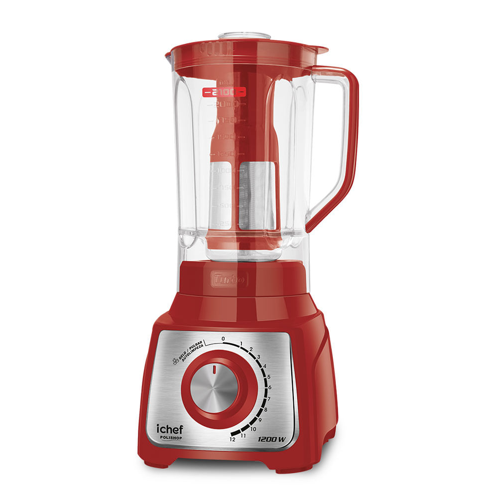 Liquidificador Turbo Inox Red Ichef Polishop