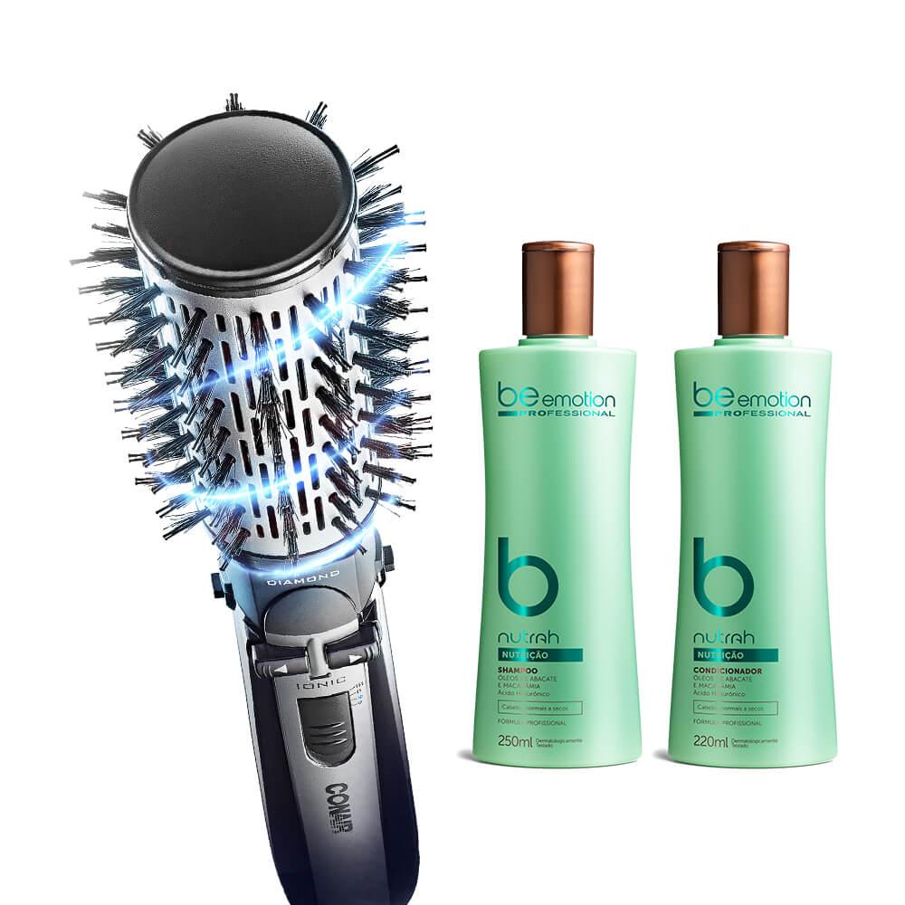 Escova Rotating Conair  GRÁTIS Shampoo e Cond. Nutrah